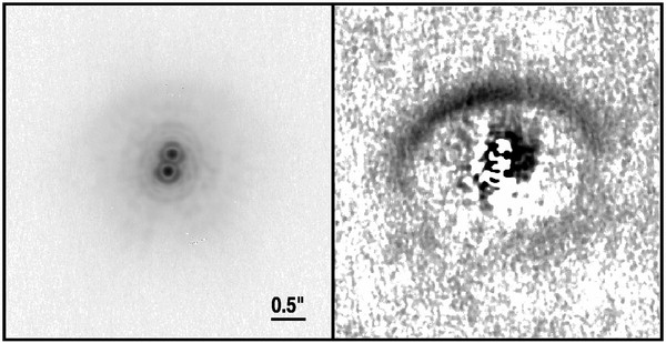 3.8 micron image of the GG Tau circumbinary disk, taken with the Keck AO system